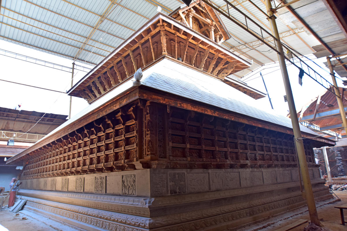 The sanctum sanctorum of Sri Rajarajeshwari Temple at Polali in Bantwal taluk.