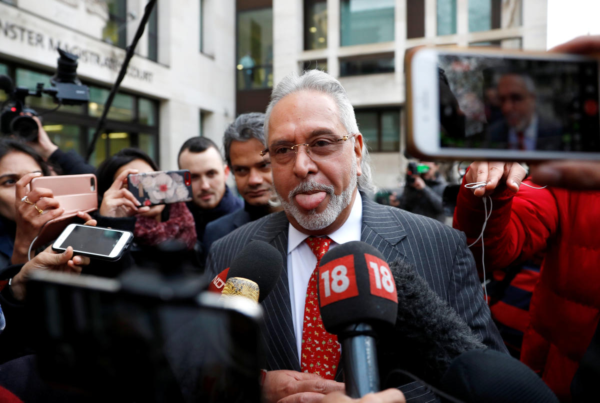 Vijay Mallya leaves after his extradition hearing at Westminster Magistrates Court, in London, Britain, December 10, 2018. REUTERS