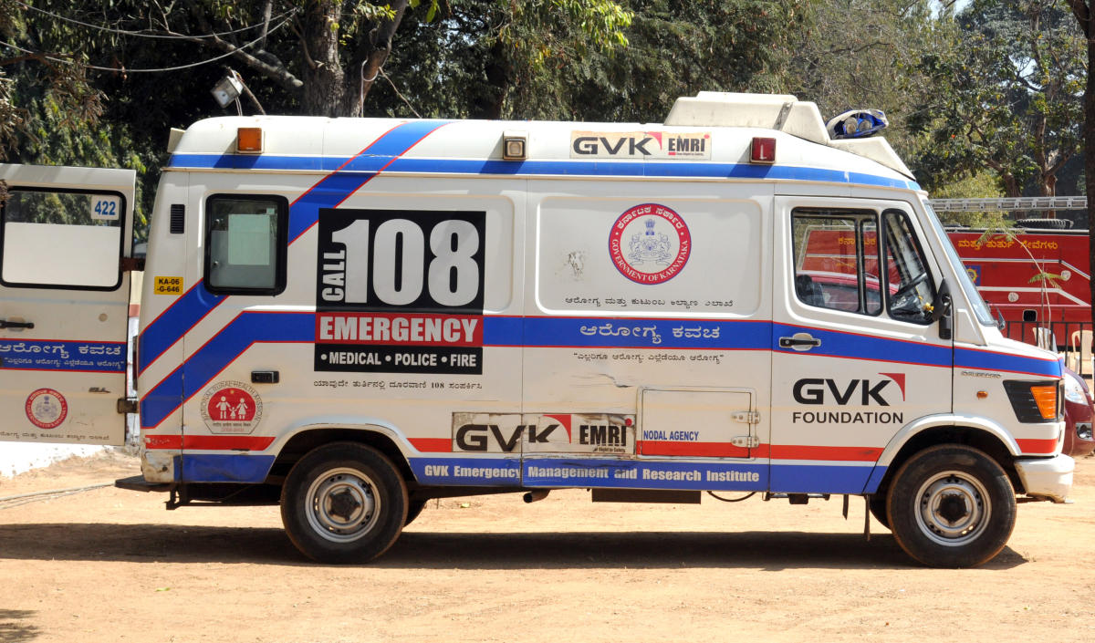 In the past 10 years, 108 ambulances have responded to 1,74,832 police, fire and medical emergencies in Dakshina Kannada.