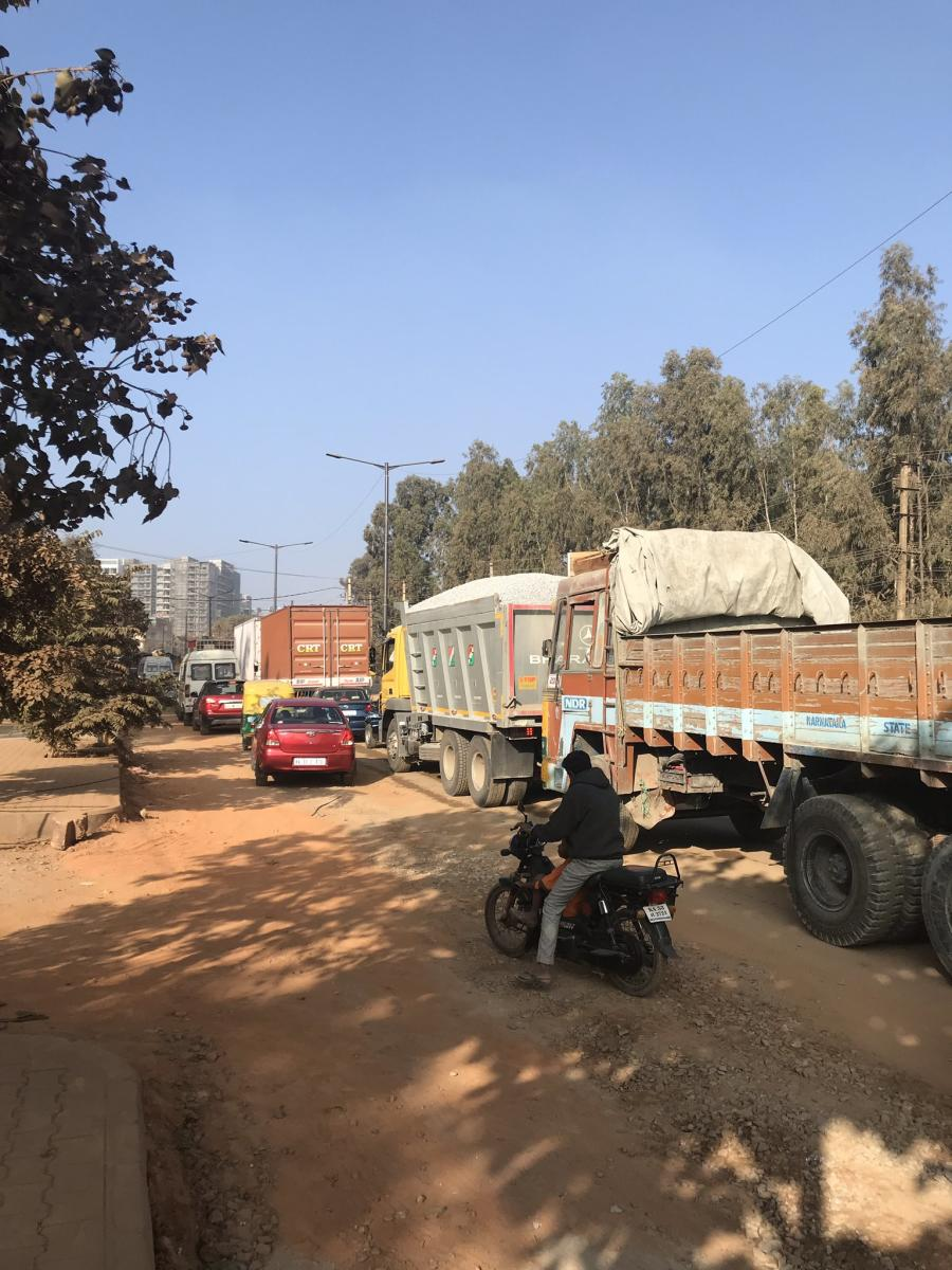 Channasandra Main Road has been dug up for more than four months now.