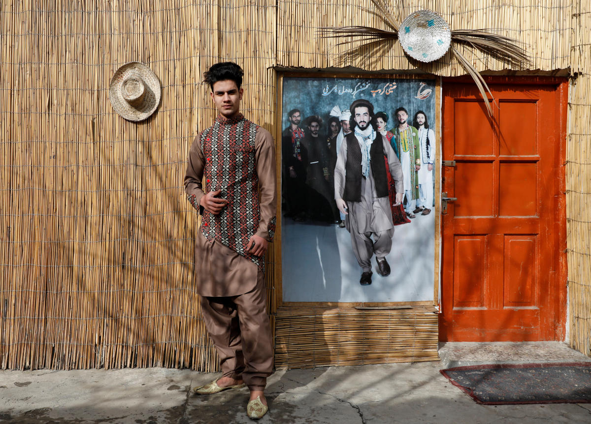 Afghan model Sultan Qasim Sayeedi, 18, poses for a picture in Kabul, Afghanistan, January 14, 2019. (REUTERS)