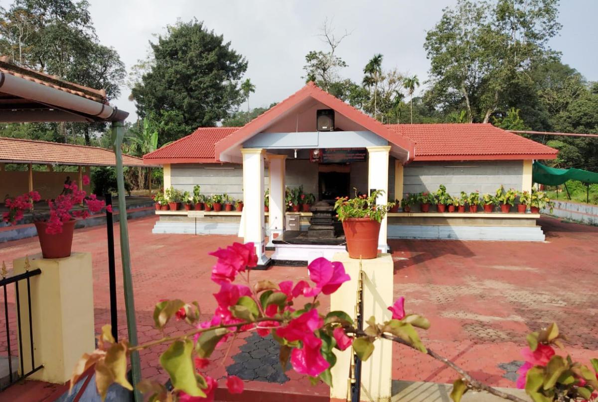 A view of Mrityunjaya Temple in Badagarakeri village in South Kodagu.