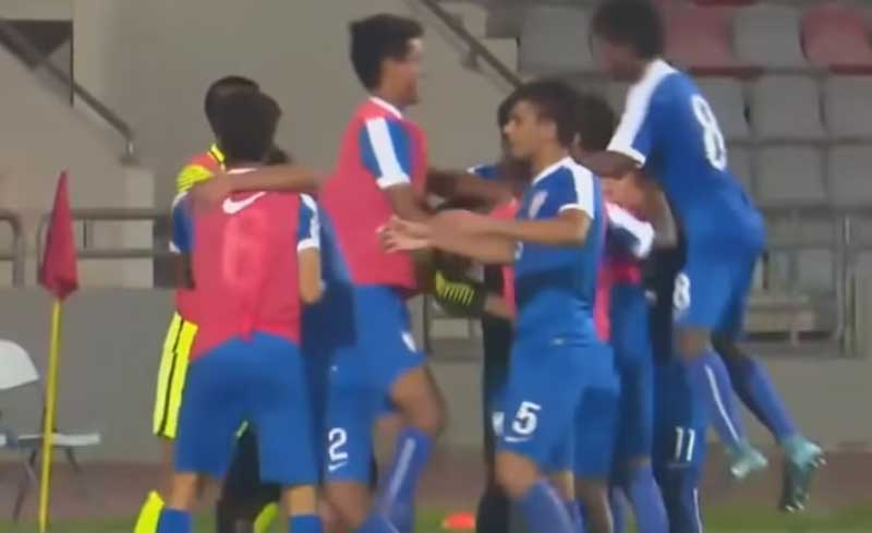 India produced a dominating performance as Buevenesh headed in the match-winner in the dying minutes to provide the perfect finish to a sublime build-up. (Screengrab)
