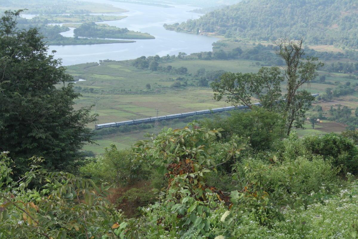 A Konkan Railway train passes through the Ratnagiri district. PTI