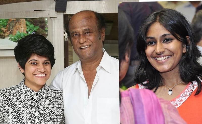 Maya S Krishnan with Rajinikanth, Ananya Ramaprasad. (Source Facebook)
