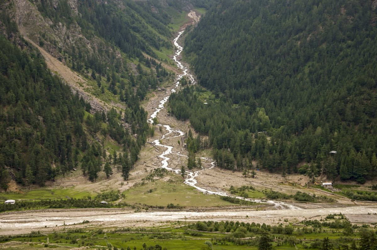Sangla - A glacier fed stream feeds into the Baspa River