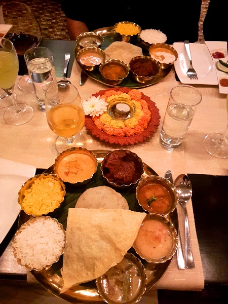 Luchi as part of Benglai thali