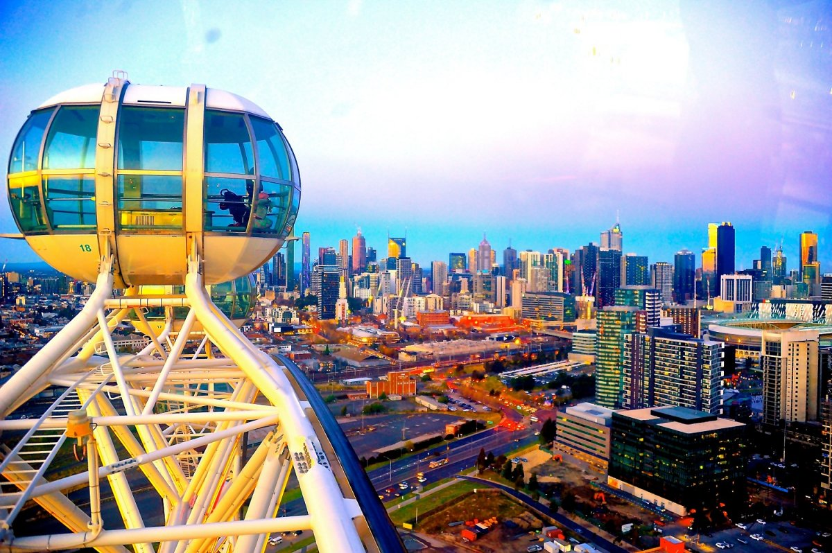 A view of Melbourne from Melbourne Star Observation Wheel