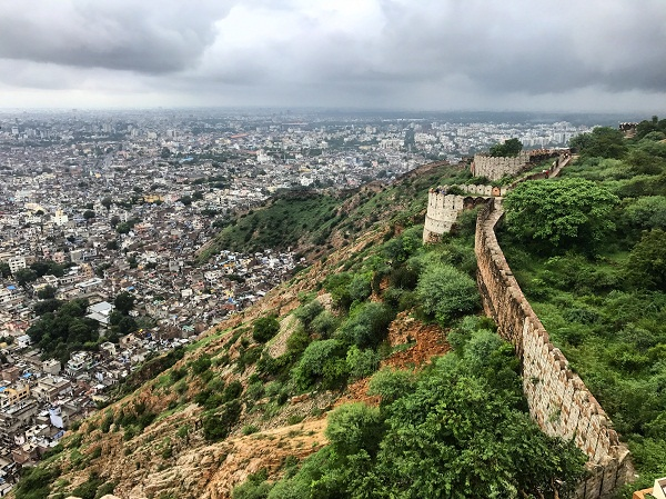 A view from the ramparts of the Nahargarh Fort.