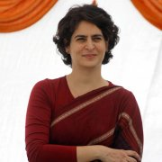 Priyanka Gandhi sticks to handloom saris, following in the footsteps of Indira Gandhi.