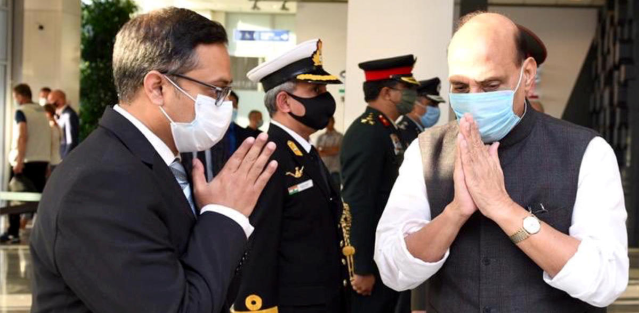 Defence Minister Rajnath Singh reaches Russia for SCO meet   Deccan Herald
