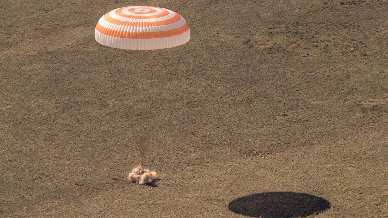 Landing of Manned Soyuz MS-17 in Kazakhstan