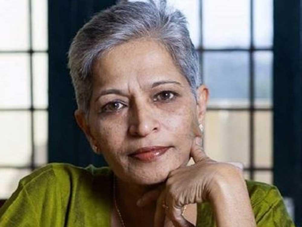 Gauri Lankesh was murdered outside her house by bike-borne assailants.