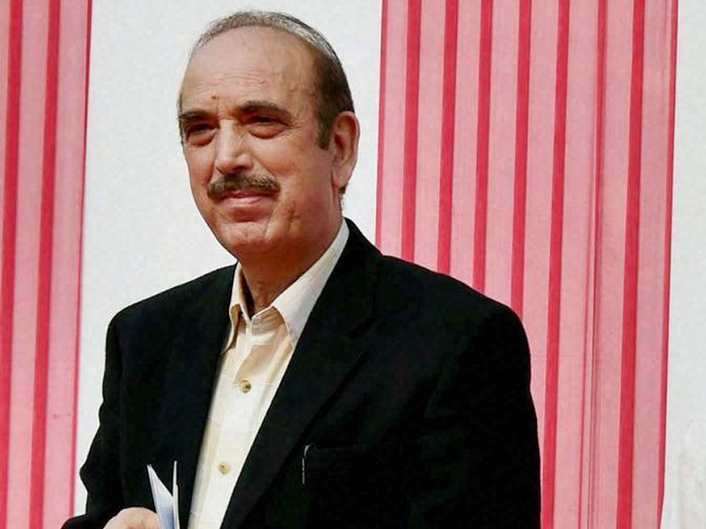 Senior Congress leader Ghulam Nabi Azad. PTI file photo