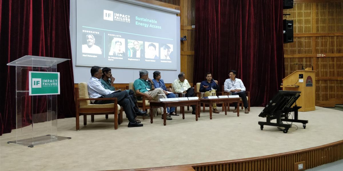 A panel discussion in progress.