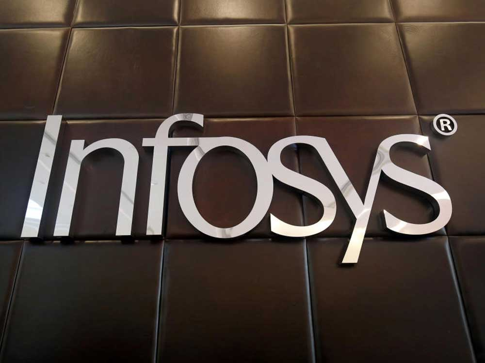 In picture: Infosys logo. Reuters file photo.