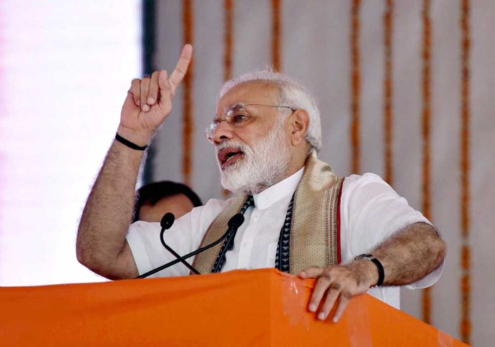 Modi will be air-borne all through his visit to Chennai except for the 36-km road journey from Mamallapuram to Thiruvidanthai and back. PTI file photo