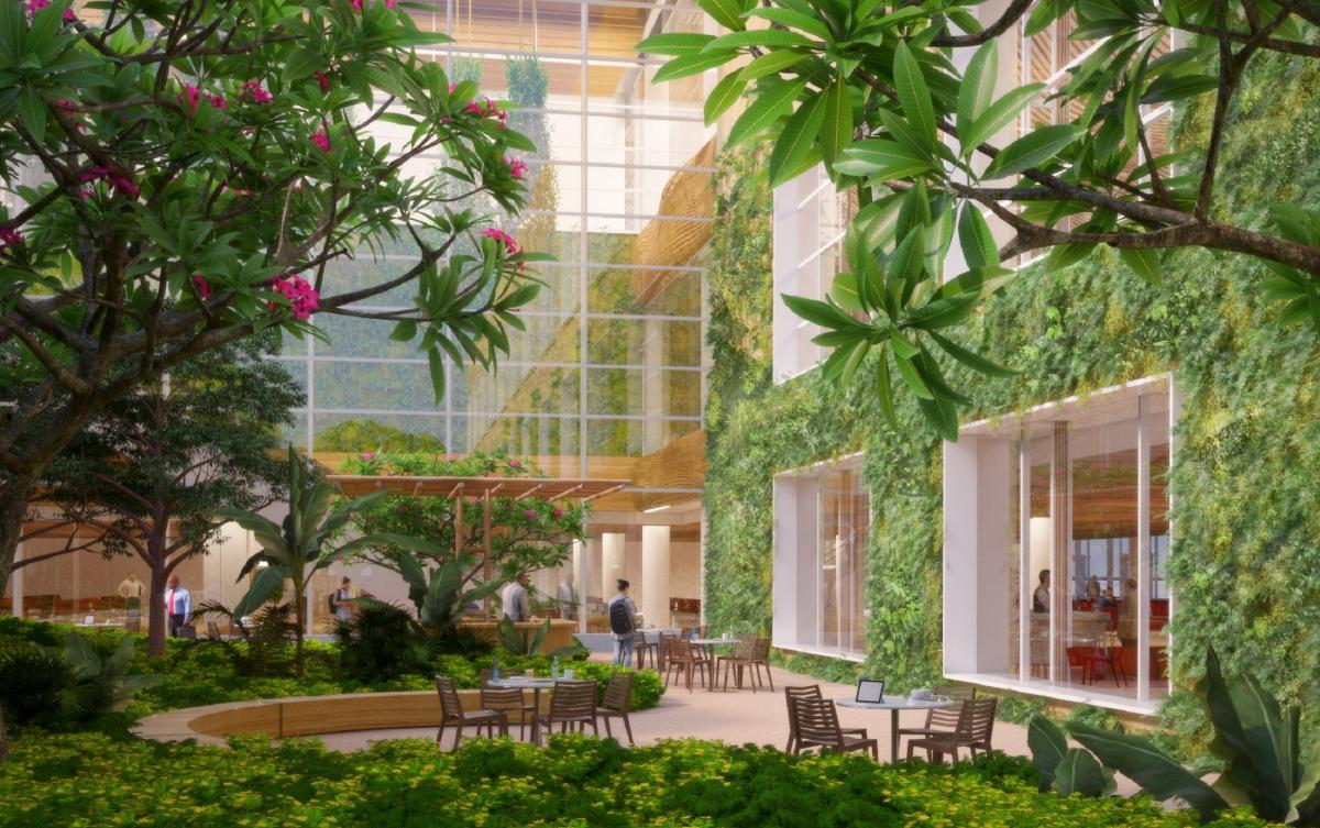 Image result for latest images of Garden-themed T2 terminal part of KIA's Rs 13K-cr plan  Read more at: https://www.deccanherald.com/city/garden-themed-t2-terminal-part-712458.html