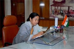 Mamata's first day in office