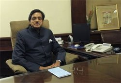 Shashi Tharoor takes over as MoS External Affairs