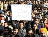 18 Indian protesters detained; taxi-driver fresh victim