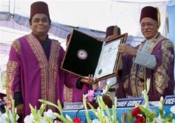 AMU confers honorary degree on A R Rahman
