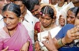'Runway' bride at mass marriage