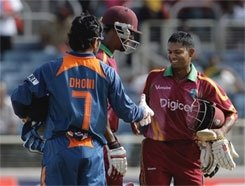 West Indies beat India by 8 wickets, level series 1-1