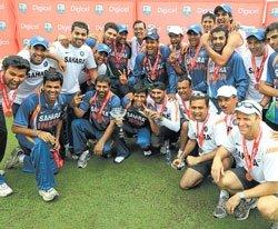 Rain has final say; India win series 2-1