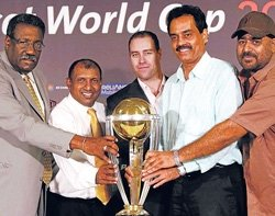 WC 2011 logo launched amid fanfare