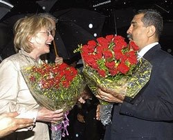 Hillary Clinton arrives in Mumbai on five-day visit to India