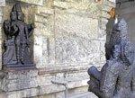Ancient temple; bustling junction