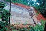 Retaining wall collapses at Chennakallu