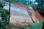 Retaining wall collapses at Chennakallu