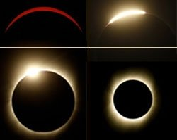 Scientists track eclipse from air