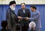 Khamenei endorses Ahmadinejad