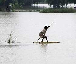 Floodwaters receding in Bihar, but 50,000 still stranded