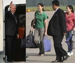 Clinton leaves North Korea with two journalists after Kim pardon