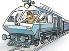 Rail engine goes on a 'monkeyride'