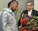 Krishna meets racial attack victim Shravan Kumar