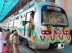 BEML delivers India's first standard gauge metro car