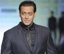 Salman Khan walks the ramp at Men's fashion week