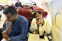 Tharoor travelled economy class before austerity measures