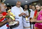Vedic hymns and astrologers mark Rosaiah's first day at CM office