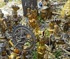 Idols, ornaments  found in lake