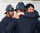 Six firemen get caught in lift, die due to suffocation