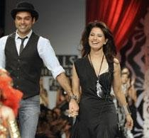 Ritu Beri's clothes overshadow Abhay Deol at WIFW