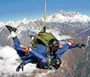 Indian IAF officer sets skydiving record in Nepal