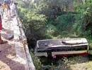 2 killed as bus plunges into gorge