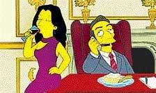 Sarkozy, Carla get 'the Simpsons treatment'